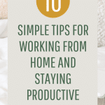 Tips for working at home
