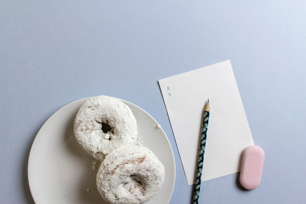donuts and a notepad